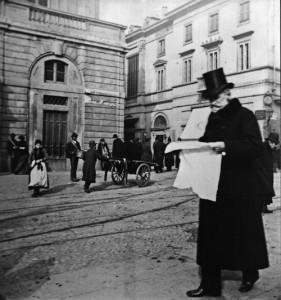 Giuseppe Verdi, Piazza della Scala, Milano, 1900